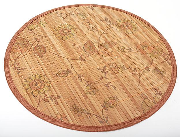 Бамбуковый коврик (салфетка) Bamboo Mat-131, Ø38см, с прошитым краем