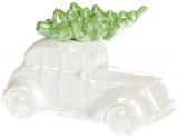 """Скарбничка """"Автомобіль"""" керамічна 18.4х11см, білий перламутр"""
