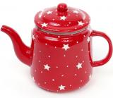 """Чайник заварочный """"Звезды на красном"""" 1100мл, керамический"""