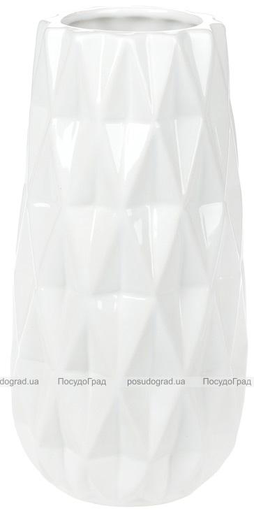 """Ваза керамічна Stone Flower """"Lajza"""" 21см, біла"""