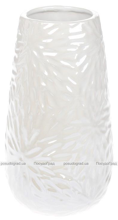 Ваза керамическая Aster 20см, белый перламутровый