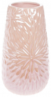 Ваза керамическая Aster 20см, розовый перламутровый