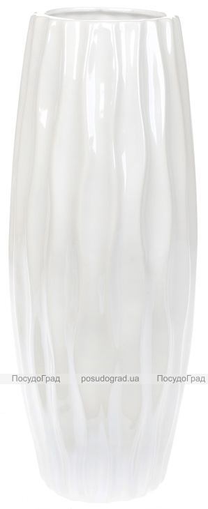 """Ваза керамічна """"Eineki"""" 30см, перлинний білий"""