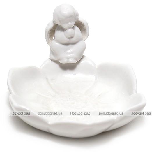 "Блюдце-подставка для украшений ""Белый Ангел"" 12х11.2х6.5см"