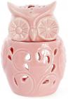 """Набір 4 арома-лампи """"Сова"""" 7.5х6.6х10.3см, рожевий фарфор"""
