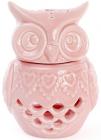 """Набір 4 арома-лампи """"Сова"""" 8.9х8.1х12.1см, рожевий фарфор"""
