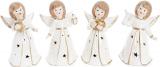 """Декоративна фігурка """"Ангел в білому"""" з LED-підсвіткою 8.8х6.5х15.2см"""