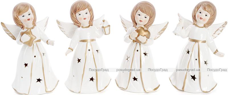 """Декоративная фигурка """"Ангел в белом"""" с LED-подсветкой 8.8х6.5х15.2см"""