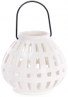 Подсвечник подвесной 15.2х15.2х13.4см, фарфоровый белый