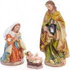 """Рождественский набор 3 фигуры """"Вертеп"""" 21см"""