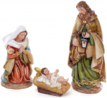 """Набор 3 рождественских статуэтки """"Вертеп"""" 31см, полистоун"""