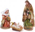 """Набір 3 різдвяних статуетки """"Вертеп"""" 31см, полистоун"""