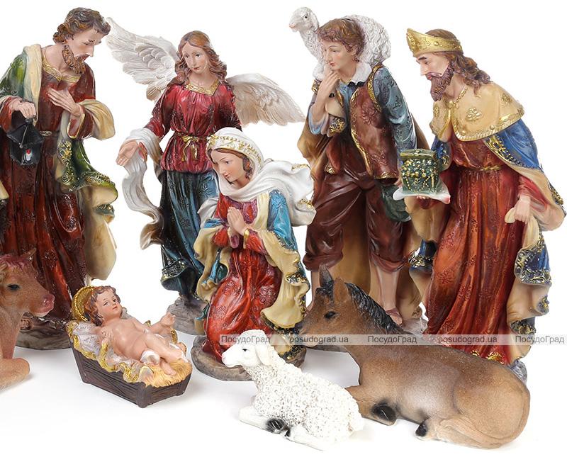 """Рождественский набор 11 фигур """"Вертеп"""" 40см"""
