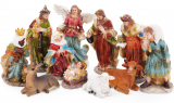 """Різдвяний декоративний набір """"Вертеп"""" 11 фігур 12.5см"""