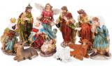 """Рождественский декоративный набор """"Вертеп"""" 11 фигур 12.5см"""