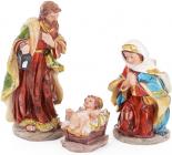 """Різдвяний набір """"Святе сімейство"""" 3 фігури 16см"""