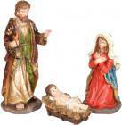 """Набір 3 різдвяних статуетки """"Вертеп"""" 64см, полистоун"""