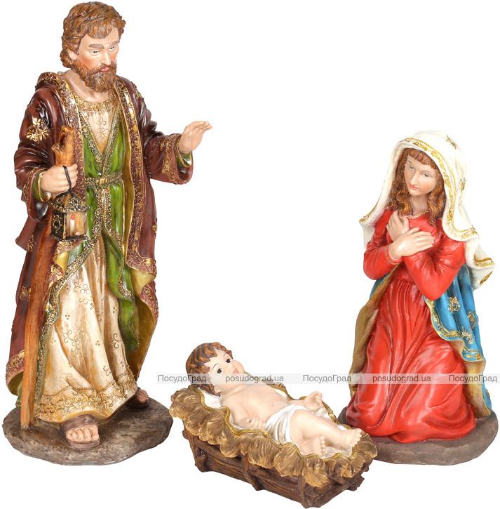 """Набор 3 рождественских статуэтки """"Вертеп"""" 64см, полистоун"""