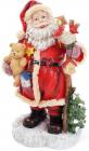"""Новогодняя декоративная статуэтка """"Санта с посохом"""" 41см"""