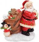 """Новогодняя декоративная статуэтка """"Санта с подарками"""" 28см"""