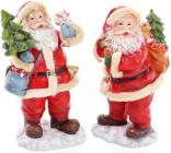 """Новогодняя декоративная статуэтка """"Санта с елкой"""" 19см"""