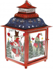 """Новорічний ліхтар-свічник """"Sweet Home"""" 23.2х23.2х39см, червоний"""