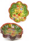 Набор 6 новогодних стеклянных тарелок Елка Ø19х3.7см