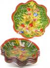"""Набір 6 новорічних скляних тарілок """"Ялинка"""" Ø23х4.5см"""