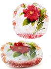 """Набір 6 скляних тарілок """"Жоржина"""" Ø25см, обідні тарілки"""
