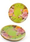 """Набор 6 стеклянных тарелок """"Чайная роза"""" Ø20см, десертные тарелки"""