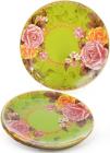 """Набір 6 скляних тарілок """"Чайна троянда"""" Ø30см, підставні тарілки"""