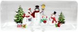 Блюдо «Snowman Party» керамическое 40.4х15.8см