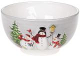Салатник керамический «Snowman Party» 700мл