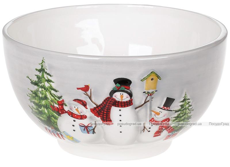 Салатник керамічний «Snowman Party» 700мл