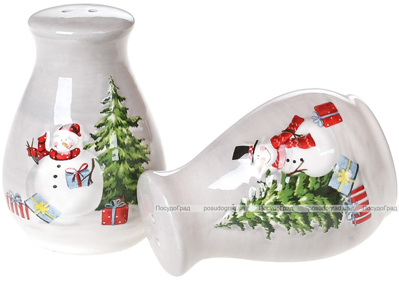Набір для спецій «Snowman Party» керамічний, сільничка та перечниця