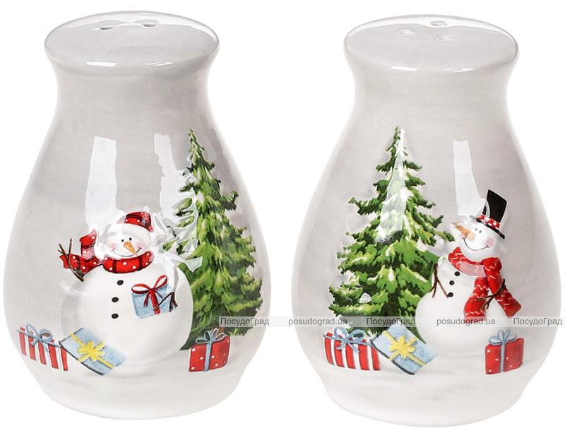Набор для специй «Snowman Party» керамический, солонка и перечница