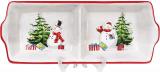 Менажниця керамічна «Snowman Party» 27.5х10.8см, 2 секції