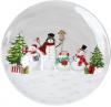 Блюдо-тортовница керамическая «Snowman Party» Ø27см
