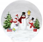 Тарілка керамічна «Snowman Party»Ø 24.8см