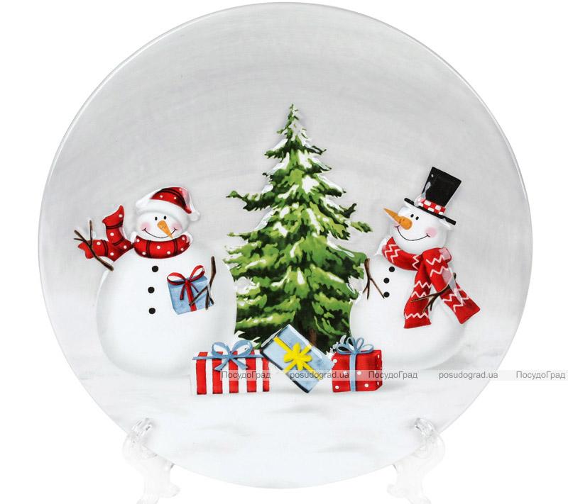 Тарілка керамічна «Snowman Party»Ø 19.9см