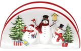 Салфетница керамическая «Snowman Party» 13.2х4.6х7.3см