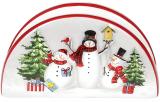 Серветниця керамічна «Snowman Party» 13.2х4.6х7.3см