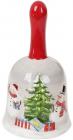Декоративний дзвіночок «Snowman Party» керамічний 7.2х7.2х13.5см