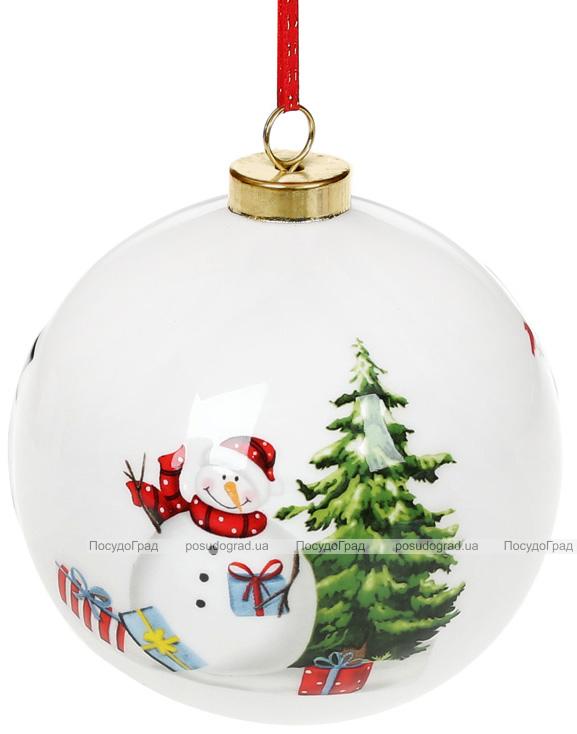 """Набор керамических шаров """"Снеговики"""" 10х10х11.5см, 4 штуки"""