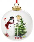 """Набор керамических шаров """"С Новым годом"""" Снеговик 8.2х8х9.7см, 4 штуки"""