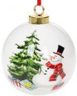 """Набор керамических шаров """"С Новым Годом"""" Снеговичок 8.2х8х9.7см, 4 штуки"""