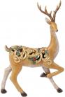 """Декоративна статуетка """"Граціозний Олень"""" 36.5см, полистоун з золотим орнаментом"""