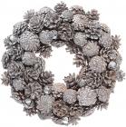 Декоративный венок из натуральных шишек Ø34см