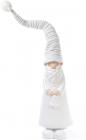 """Новогодняя керамическая фигура """"Санта в вязаном колпаке"""" 51см"""