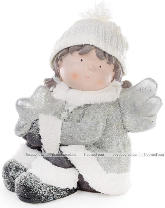 """Новогодняя керамическая фигура """"Ангелок со звездой"""" 31см"""